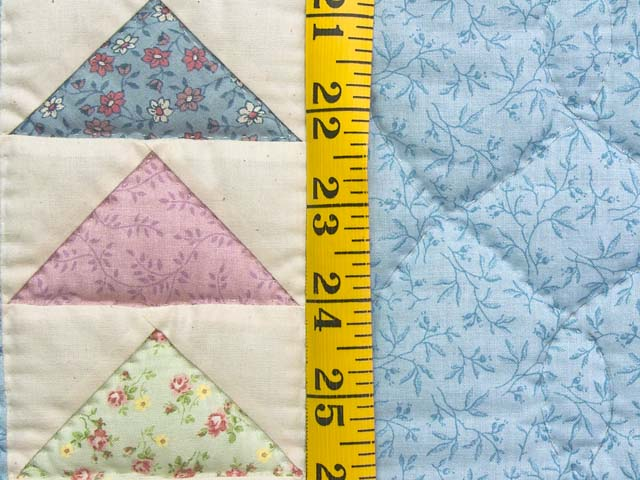 Pastel Blue and Yellow  Flying Geese Crib Quilt Photo 4