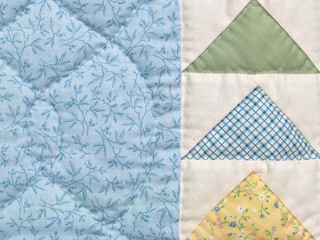 Pastel Blue and Yellow  Flying Geese Crib Quilt Photo 5
