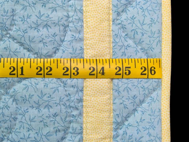 Pastel Blue and Yellow  Flying Geese Crib Quilt Photo 6