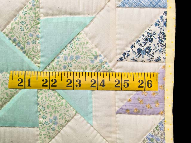 Pastel  Pinwheels Crib Quilt Photo 5