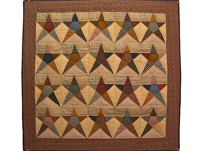 Plaid Homespun Stars Wall Hanging Photo 1
