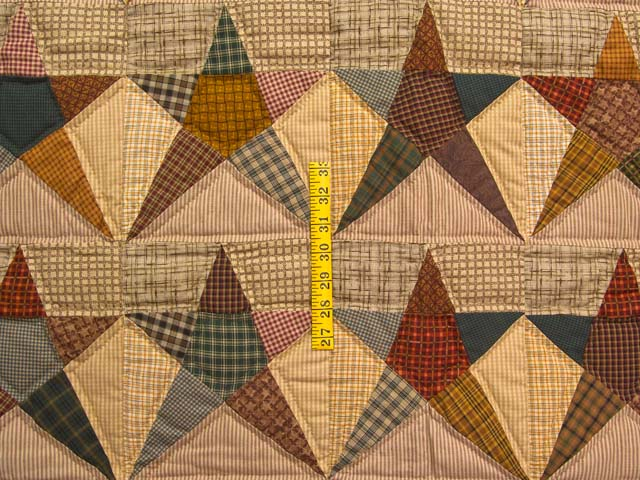 Plaid Homespun Stars Wall Hanging Photo 3