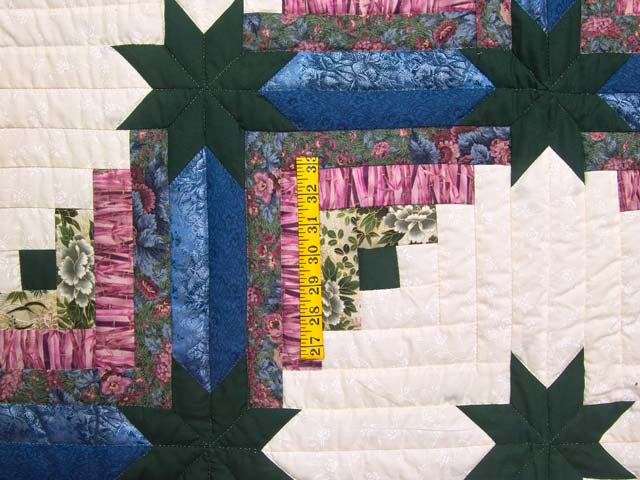 Rose Dark Green and Blue Colorado Log Cabin Throw Photo 3