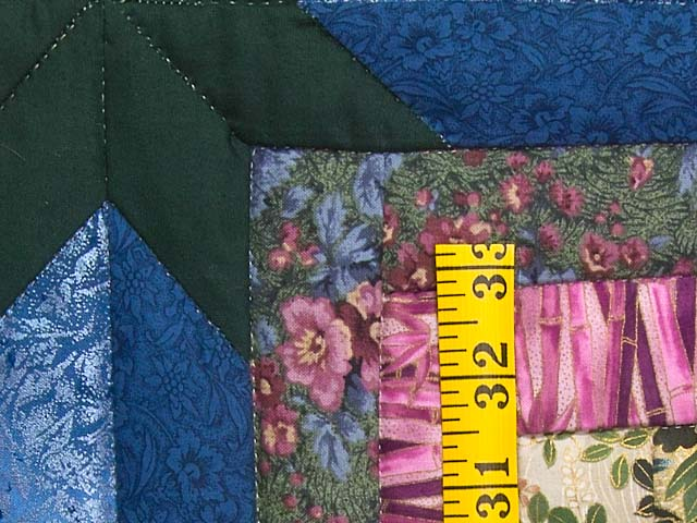 Rose Dark Green and Blue Colorado Log Cabin Throw Photo 4