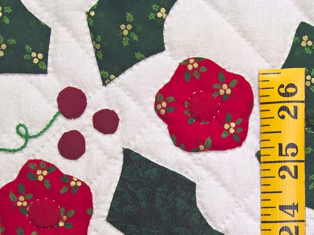 Red and Green Holly Heart Wall Hanging Photo 4