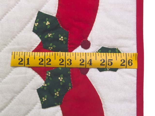 Red and Green Holly Heart Wall Hanging Photo 5