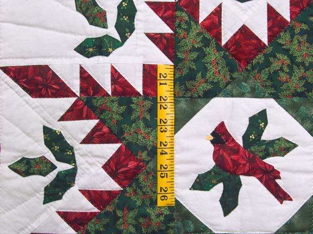 Christmas Cardinal  Feathered Star Wall Hanging Photo 3