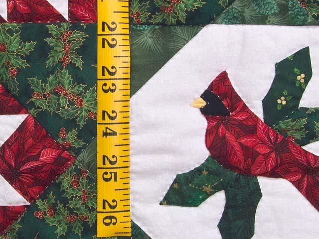 Christmas Cardinal  Feathered Star Wall Hanging Photo 4