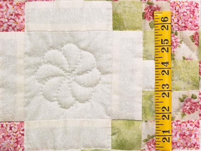 Rose Green and Cream Irish Chain Crib Quilt Photo 4