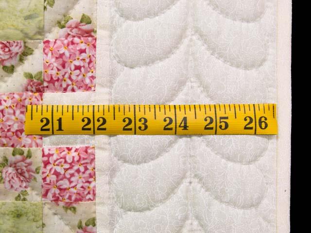 Rose Green and Cream Irish Chain Crib Quilt Photo 5