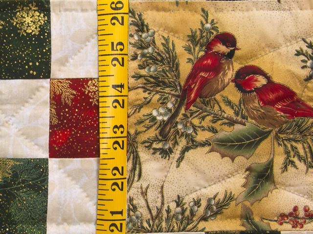 Christmas Cardinals Nine Patch Wall Hanging Photo 4