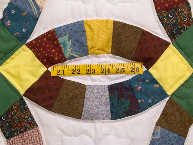 Green Yellow and Multi Double Wedding Ring Lap Throw Photo 3