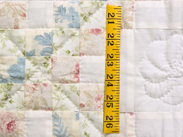 Pastel Pink and Blue Floral Irish Chain Crib Quilt Photo 4