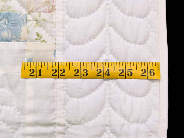 Pastel Pink and Blue Floral Irish Chain Crib Quilt Photo 5