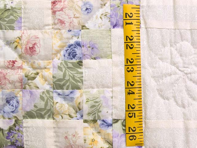 Rose Lavender and Green Floral Irish Chain Crib Quilt Photo 4