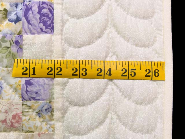 Rose Lavender and Green Floral Irish Chain Crib Quilt Photo 5