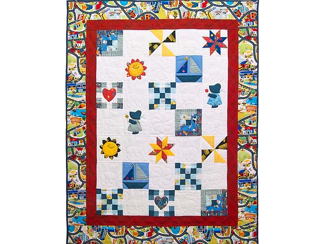 Extraordinary Sampler Crib Quilt Photo 1