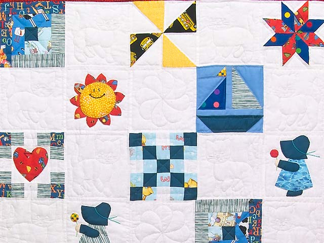 Extraordinary Sampler Crib Quilt Photo 2