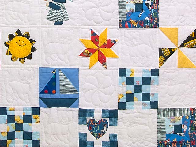 Extraordinary Sampler Crib Quilt Photo 3