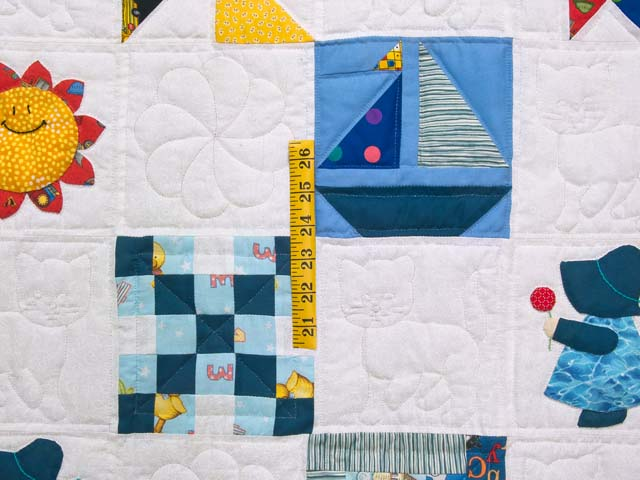 Extraordinary Sampler Crib Quilt Photo 4