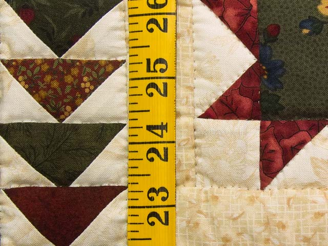 Burgundy Navy and Wheat Miniature Flying Geese Quilt Photo 4