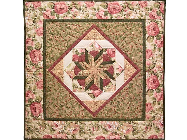Rose and Sage Flowering Star Wall Hanging Photo 1