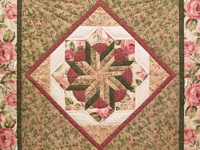 Rose and Sage Flowering Star Wall Hanging Photo 2