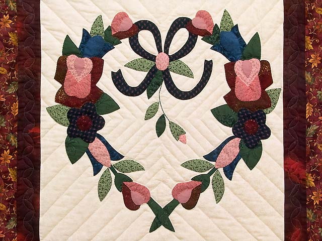Rose and Multicolor Heart Wreath Wall Hanging Photo 2