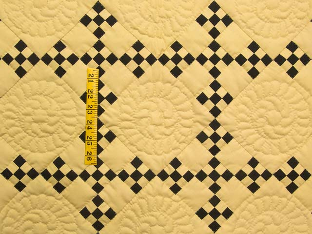 Mustard and Black Nine Patch Throw Photo 3