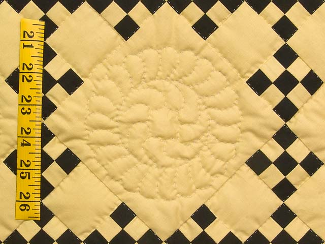 Mustard and Black Nine Patch Throw Photo 4