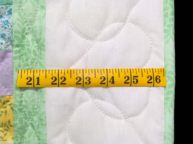 Light Green and Pastel Snowball Crib Quilt Photo 5