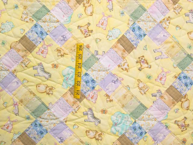 Pastel Railroad Crossing Crib Quilt Photo 3