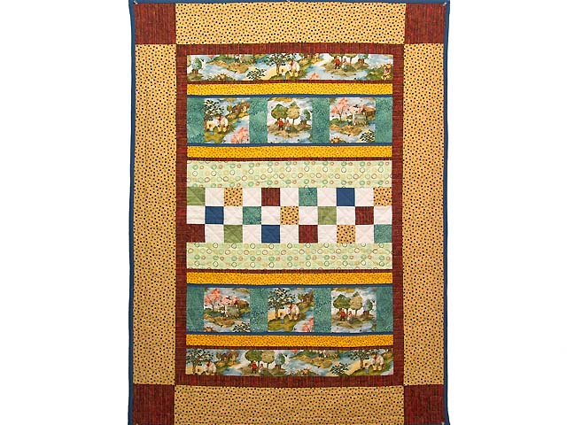 Teddy Bear Scenes Crib Quilt Photo 1