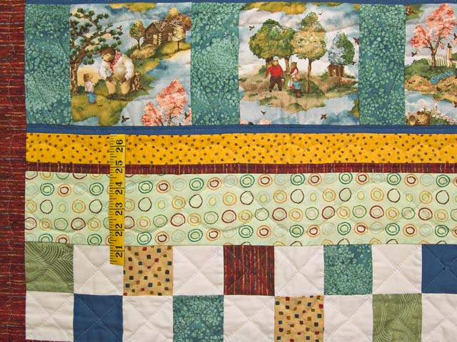 Teddy Bear Scenes Crib Quilt Photo 4