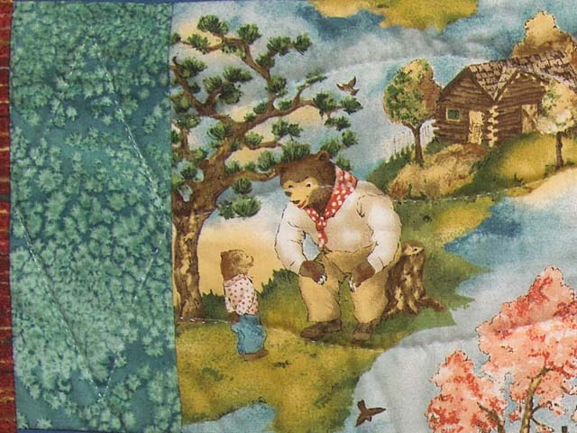 Teddy Bear Scenes Crib Quilt Photo 5