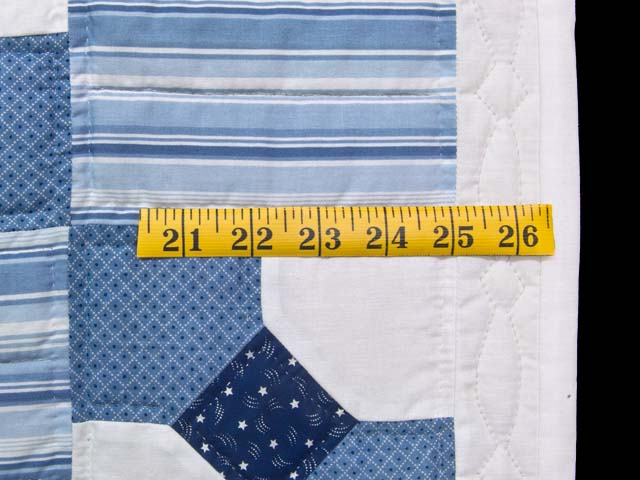 Blue and Cream Bow Tie Crib Quilt Photo 5