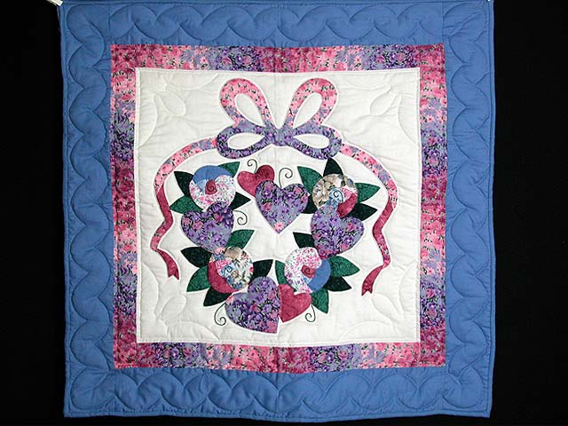 Blue and Rose Country Love Wall Hanging Photo 1