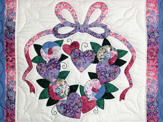 Blue and Rose Country Love Wall Hanging Photo 2