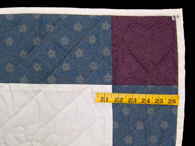 Blue and Purple Rocking Horse Crib Quilt Photo 5