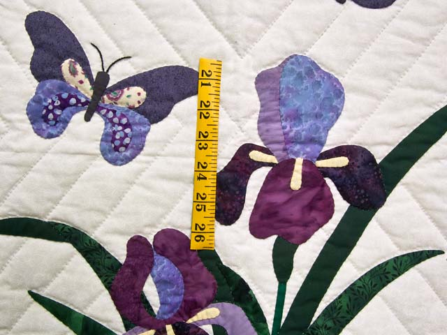 Green Iris Applique Wall Hanging Photo 3