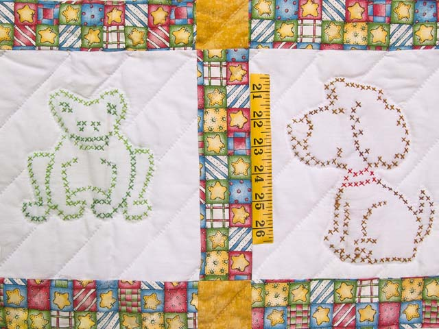 Cross Stitch Animals Crib Quilt Photo 4