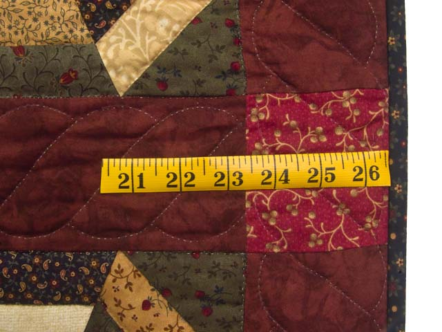 Burgundy Green and Tan Serendipity Wall Hanging Photo 6
