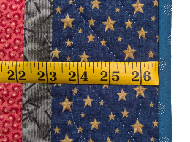 Blue Gray and Red Star Chain Wall Hanging Photo 4