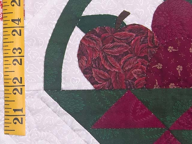 Burgundy and Green Apple Basket Wall Hanging Photo 4