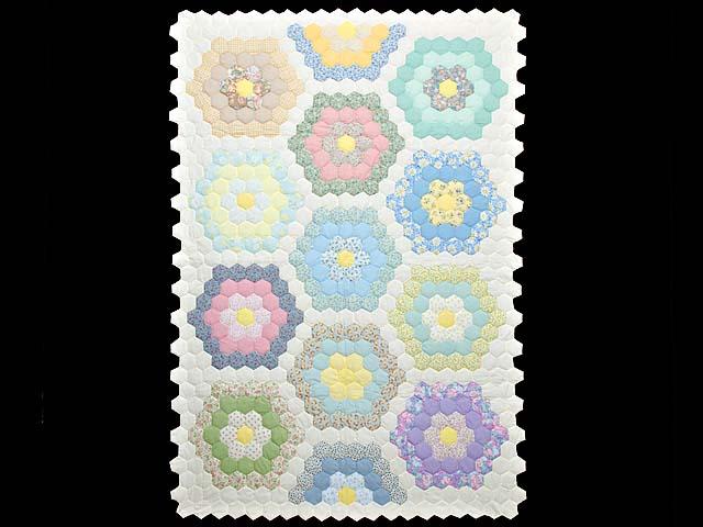 Pastel Flower Garden Crib Quilt Photo 1