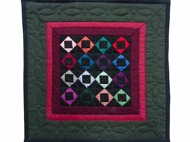 Miniature Amish Square with Square Quilt Photo 1