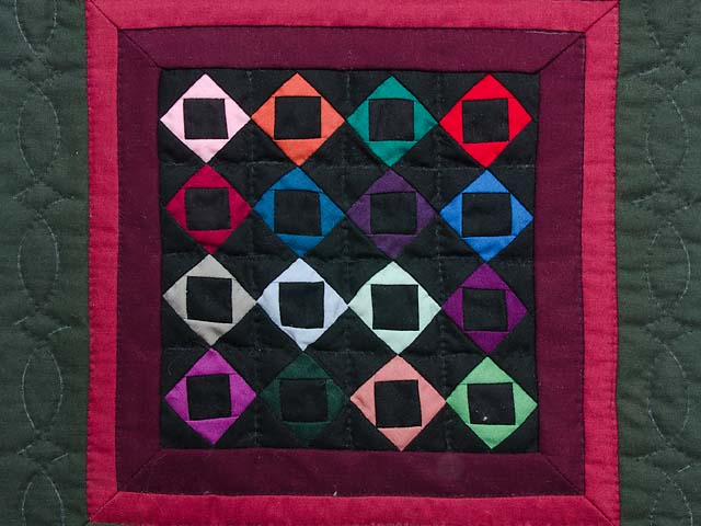 Miniature Amish Square with Square Quilt Photo 2