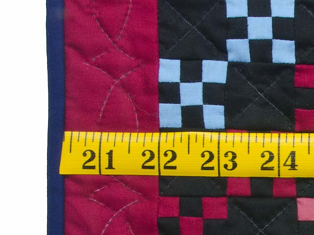 Miniature Amish Rainbow Nine Patch Quilt Photo 3