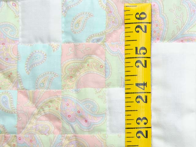Soft Pink Aqua and Cream Irish Chain Crib Quilt Photo 4