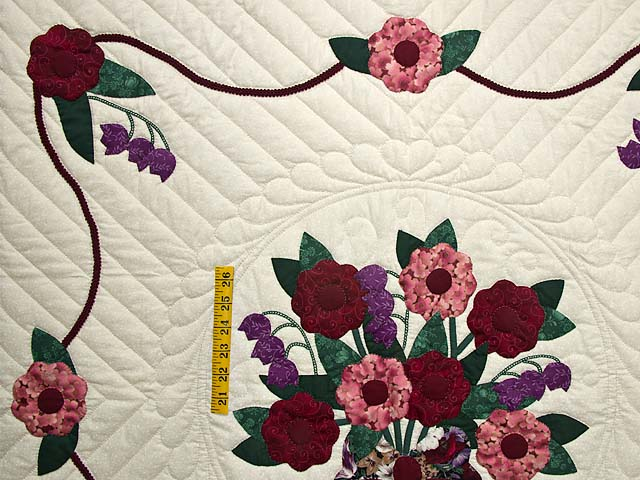 Rose Burgundy and Green Rose of Sharon Wall Hanging Photo 3